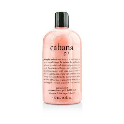 Philosophy Cabana Girl Guava Coconut Shampoo, Shower Gel & Bubble Bath 16 Fl. Oz.