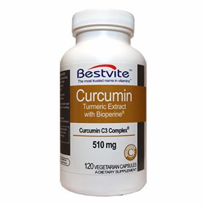 Curcumin 510mg (Turmeric)(120 Vegetarian Capsules)
