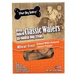 Three Dog Bakery 050014 Classic Wafers Wheat Free Sweet Potato 16 Oz