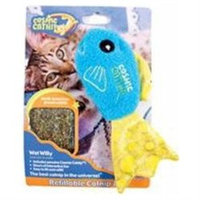 Ourpet's Company COSMIC REFILLABLE CATNIP TOY FISH WET WILLY