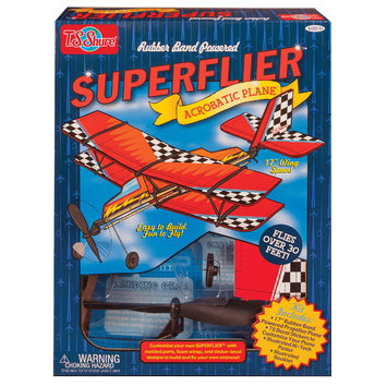 T.s. Shure Rubber Band Powered Super Flier Acrobatic Plane Kit