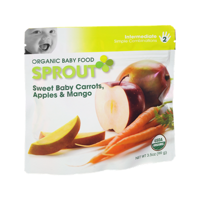 Sprout Intermediate Sweet Baby Carrots, Apples & Mango Organic Baby Food