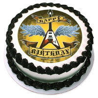 Lucks Edible Image Rock Star Birthday, 1 ea
