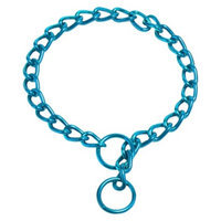 Platinum Pets Coated Chain Training Collar - Teal (22