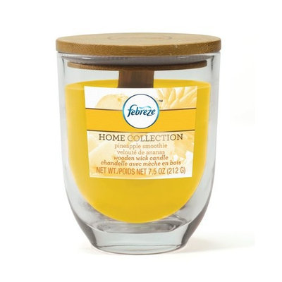 Febreze Home Collection Febreze 7.5 oz Wood Wick Pineapple Smoothie Jar Candle