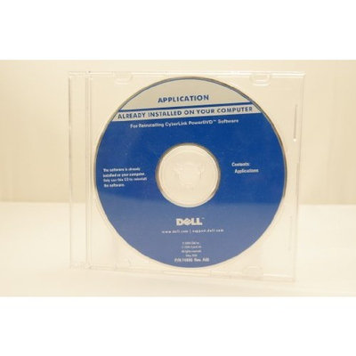 Dell Application Reinstalling Cyberlink PowerDVD Software Install Disc Year: May 2004 Part Number: F4990 Rev. A00 Computer Software Program Install