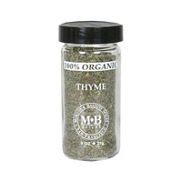 Morton & Bassett Organic Thyme, .9-Ounce Jars (Pack of 3)