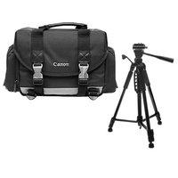 Canon 200DG Digital SLR Camera Case Gadget Bag + Tripod Accessory Kit for EOS 5D Mark II III, 6D, 7D, 60D, Rebel T4i, T3, T3i, T2i