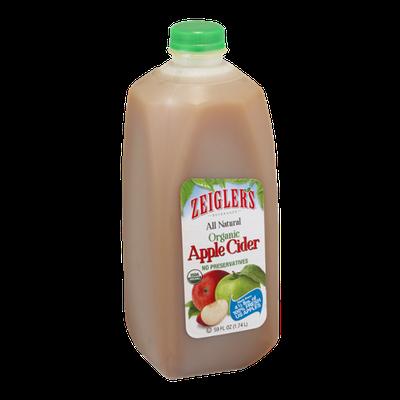 Zeigler's All Natural Organic Apple Cider