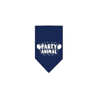 Ahi Party Animal Screen Print Bandana Navy Blue large
