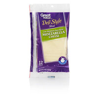 Great Value Low Moisture Part Skim Mozzarella Cheese Slices, 12ct