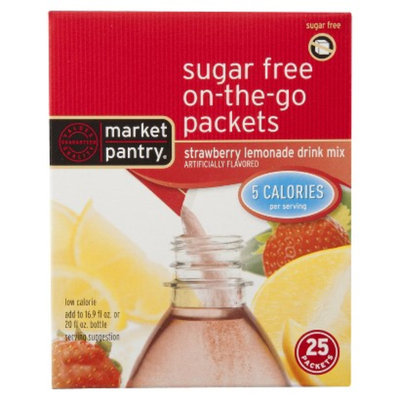 market pantry Market Pantry Sugar Free Strawberry Drink Mix Packets 25-oz.