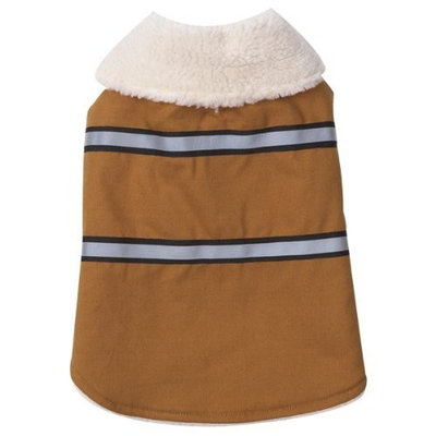 Zack & Zoey Polyester/Cotton Duck Ranch Dog Coat, Large, Camel