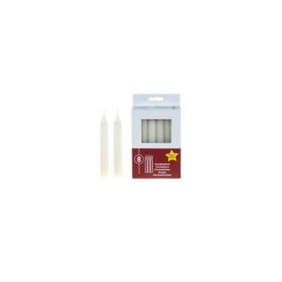 DDI 1756877 8 pcs of 5 in. Unscented Taper Candles - White Case Of 48
