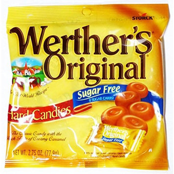 Werther's Sugar Free Hard Candies, Caramel Chocolate, 2.35 oz.
