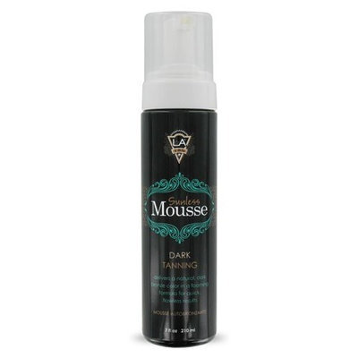 LA Tan Sunless Mousse Dark Natural Bronze Tanning 7 oz.