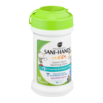 Sani Professional Sani-Hands for Kids Instant Hand Sanitizing Wipes - 80 CT