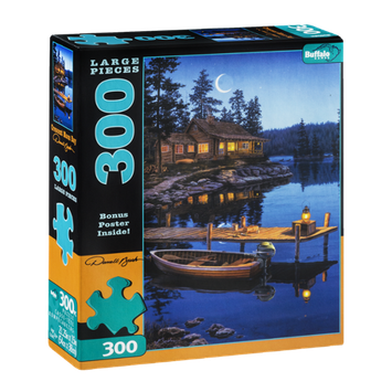 Buffalo Games 300-Large Piece Puzzle Crescent Moon Bay
