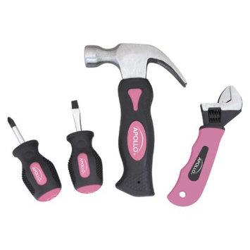 Apollo Tools 4-Pc. Stubby Set - Pink