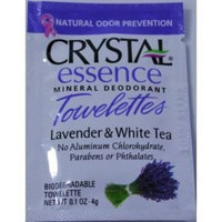 F-t Ltd Crystal® Essence Mineral Deodorant Towelette - Lavender & White Tea (Case of 24)