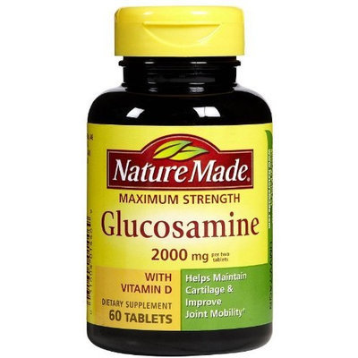 Nature Made, Glucosamine with Vitamin D, Maximum Strength, 2000mg, 60 Count