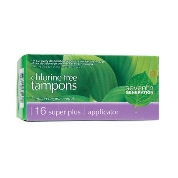 Seventh Generation Free & Clear Applicator Super Plus Tampons