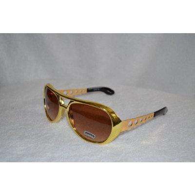 Goya Gold Elvis Sunglasses with Smokey Lens - Aviator Glasses