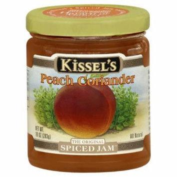 Kissels Spiced Jam, Peach Corriander, Gluten Free, 10-Ounce Jar (Pack of 3)