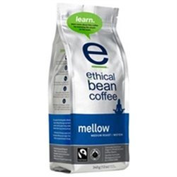 Ethical Bean Coffee - Organic Medium Roast Whole Bean Mellow - 12 oz.