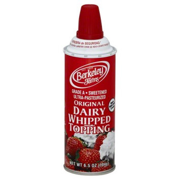 Berkeley Farms Ultra-Pasteurized Original Dairy Whipped Topping, 6.5 oz