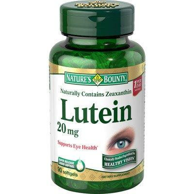 Nature's Bounty Lutein 20mg Softgels 90 Count