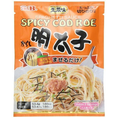 S B S & B Japanese Spicy Cod Roe Mentaiko Spagetti Sauce 1.88-Ounce Units (Pack of 6)