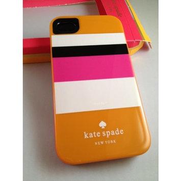 Designer kate spade new york -ORANGE STRIPE iPhone 4 and 4S Hard Case