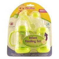 Nuby Infant Printed Bottle Feeder Set - Lime