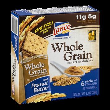 Lance Whole Grain Cracker Sandwiches Peanut Butter - 6 CT