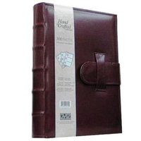 Kleer Vu Kleer-Vu Photo / Memo Album, Leatherette Capri Collection, Burgundy, Holds 300 4x6