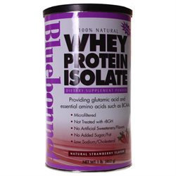 Bluebonnet Nutrition - 100 Natural Whey Protein Isolate Powder Natural Strawberry Flavor - 1 lb.