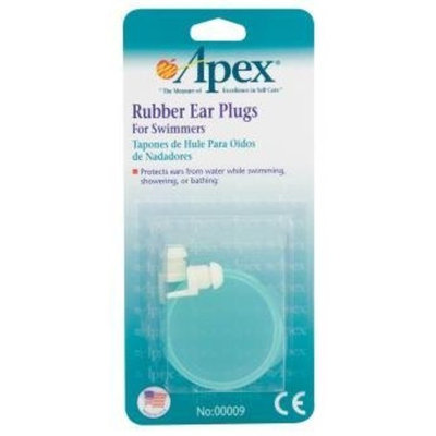 APEX MEDICAL CORP Rubber Ear Plugs for Swimmers By Apex Healthcare