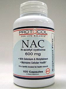 Protocol For Life Now Foods Protocol NAC N AcetylCysteine 600mg + Antiox 100c
