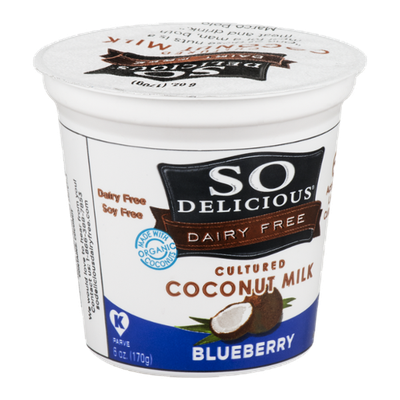 So Delicious Dairy Free Cultured Coconut Milk Blueberry