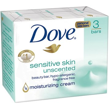 Dove Bar Soap - Sensitive Skin Unscented, 3 ct