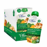 Plum Organics Baby Second Blends Hearty Veggie Meal, Spinach, Pumpkin & Chickpea, 6 ea