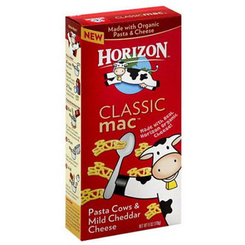 Horizon Classic Mac Pasta Cows & Mild Cheddar Cheese, 6 oz, (Pack of 12)