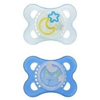 MAM Night Silicone Pacifier - Pink - 0-6 months