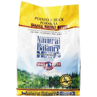 Natural Balance Small Bites Potato and Duck Formula Food, 5-Pound Bag