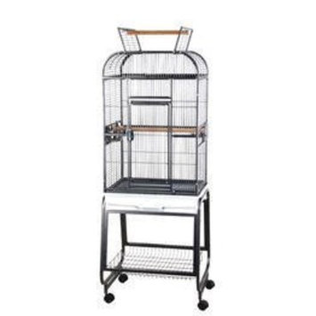 A&e Cage Victorian Open Play Top Bird Cage with Stand Color: Black