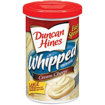 Duncan Hines Frosting Whipped Cream Cheese, 16.2-Ounce Canisters (Pack of 8)