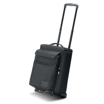 Jelco Padded Hard Side Wheeled Projector Case with Removable Laptop Case: 21.5