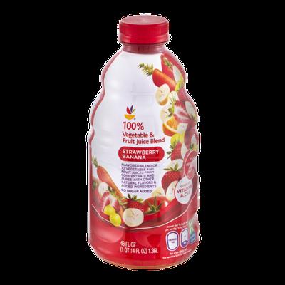 Ahold 100% Vegetable & Fruit Juice Strawberry Banana