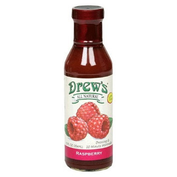 Drews All Natural Drew's All-Natural Salad Dressing and 10 Minute Marinade, Raspberry, 12-Ounce Bottle
